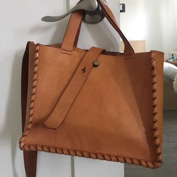 2b1d674d217fa8 Madewell Handbags - Madewell Whipstitch Mini Tote in Good condition
